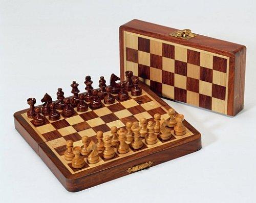 Weiblespiele 03058 - Magnetschachspiel Palisander und Buchsbaum, Königshöhe, 34 mm