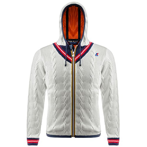 Jacke - Jacques Cotton Cable CREAM-RED-BLUE