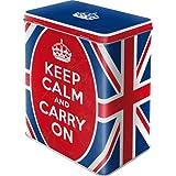 Nostalgic-Art 30128 United Kingdom Keep Calm and Carry On, Vorratsdose L