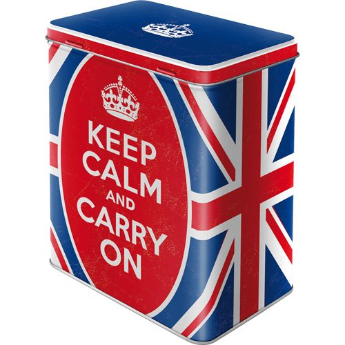 Nostalgic-Art 30128 United Kingdom Keep Calm and Carry On, Vorratsdose L