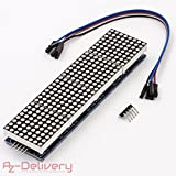 AZDelivery ⭐⭐⭐⭐⭐ MAX7219 8x32 4 in 1 Dot Matrix LED Anzeigemodul für Arduino mit gratis eBook!