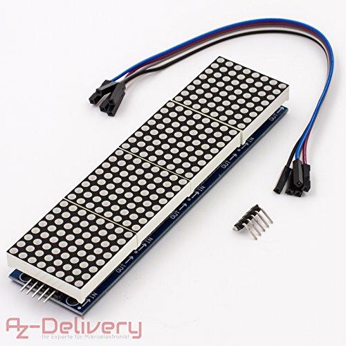AZDelivery MAX7219 8x32 4 in 1 Dot Matrix MCU LED Anzeigemodul für Arduino