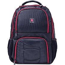 BeFit Backpack Negro: Mochila para Alimentos, Equipamiento y Portátil de Alta Calidad - Compartimento de Almacenamiento Aislado para mantener los Alimentos Frescos,con 3 Recipientes y 2 Sacos de Hielo