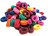 Ram Mali 100 Pieces Hair Rubber Bands Fo...