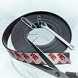 Magnetband selbstklebend – 5m extra starke Klebefläche – sehr gute Magnethaftung für leichtere Gegenstände – ideal geeignet zum Kürzen und Zuschneiden – für bessere Organisation