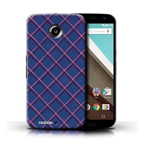 Kobalt® Imprimé Etui / Coque pour Motorola Nexus 6 / Vert/Bleu conception / Série Motif Entrecroisé Bleu