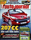 AUTO JOURNAL (L') [No 713] du 07/12/2006 - 207 cc, elle sait tout faire -...