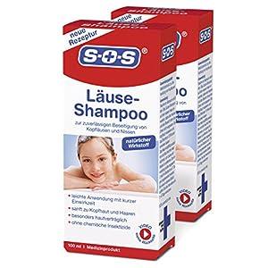 SOS Läuse-Shampoo (2er Pack) – befreit zuverlässig von Kopfläusen und Nissen