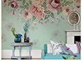 Wh-Porp 3D Fototapeten Tapete Retro Abstrakt Blumen Wandbild Kunst Wohnzimmer Schlafzimmer Tapete Handgemalte Aufkleber Wandbild-128Cmx100Cm