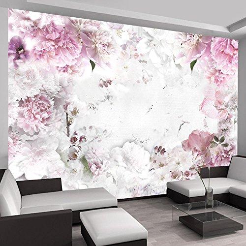 *murando – Fototapete 400×280 cm – Vlies Tapete – Moderne Wanddeko – Design Tapete – Wandtapete – Wand Dekoration – Blumen b-A-0152-a-d*
