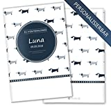EU-Heimtierausweis / Impfpass / Tierpass Taksa personalisierbare Hülle für den Hund (EU-Tierausweis personalisiert, ohne Motiv)