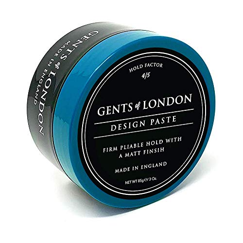 Gents of London Design Paste Mattes Haarwachs/Hair Wax für Fest Halt und Professionelle Haarstylings 85g -