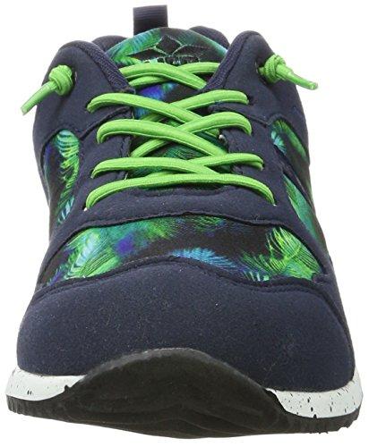 Lico Unisex-Erwachsene Leeds Sneaker Blau (Marine/Gruen)