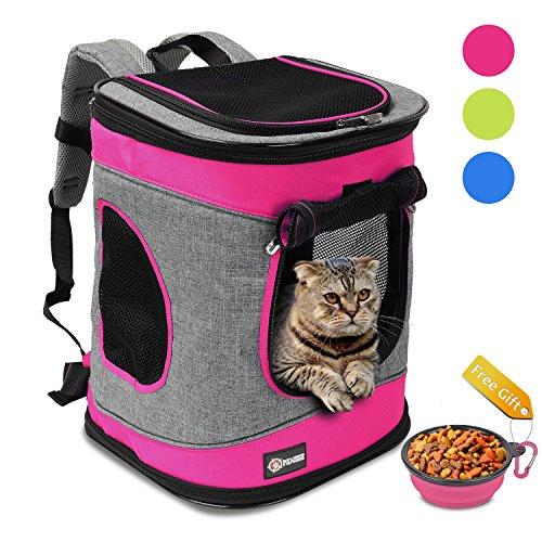 Pawsse Comfort Pet Carrier Zaino per Gatti e Cani Fino a 6,8 kg Outdoor Travel Carrier per Animali Domestici Escursionismo, Passeggiate, Ciclismo & Uso Esterno 40,6 cm H x13,2 L x12 W