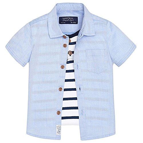 mayoral - Baby Jungen Kombi Kurzarm-Hemd mit Brusttasche, blau - 1155b - 92blau
