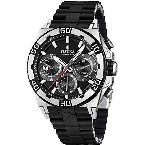 Festina Herren-Armbanduhr XL Tourchrono 2013 Chronograph Quarz verschiedene Materialien F16659/5