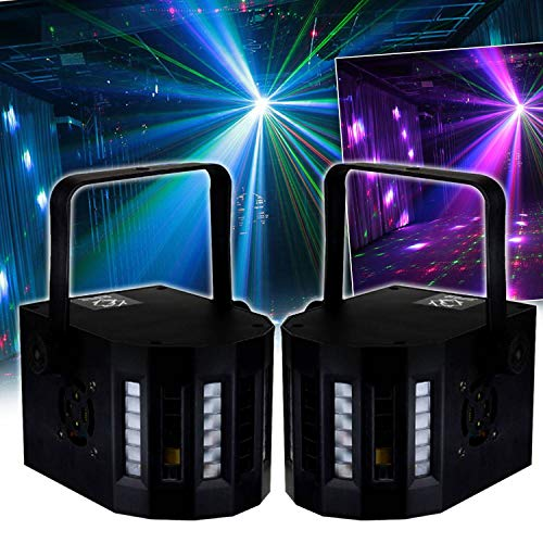 Pack jeux de lumières 2 MINI DERBY Kolor Zirkus 80 faisceaux lumineux Koolstar EFFET LIGHT à 6 LED RVB