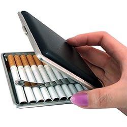 Porte Cigarette Cuir Paquet - Dxlta Boîte étui à Cigarettes - Cadeau de stockage de tabac titulaire