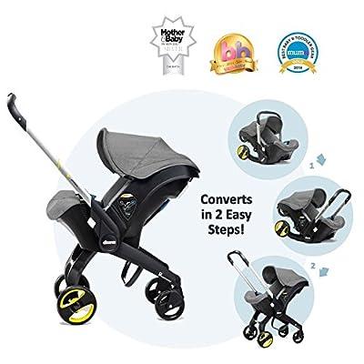 Doona Storm (gris) grupo 0+–Silla de bebé para coche