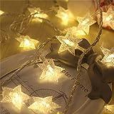 La luce fredda di Natale di 50pcs LED illumina le luci della stringa della batteria della stella per il partito di cerimonia nuziale di festa di vacanza all'aperto da MFCreative