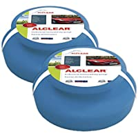 ALCLEAR 5713050M_2 microfibre hand polishing sponge set of 2, 130x50 mm, wax applicator pad for waxes, polishes, paint cleaner, car polish, instead of polishing machine preiswert
