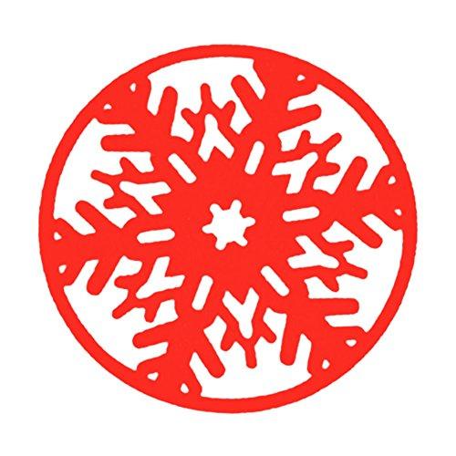 drawihi 2pcs Weihnachten Filz Untersetzer rund praktische von Côte Schneeflocke