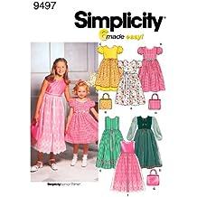 Simplicity 9497 HH - Patrones de costura para vestidos de niña