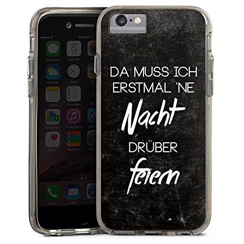 Apple iPhone 6s Bumper Hülle Bumper Case Glitzer Hülle Nacht Feiern Party Bumper Case transparent grau