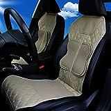AMYMGLL Massage Chair schienale e sedile Airbag Spremere cuscino massaggiante per auto e casa riscaldato per massaggi Sedile , beige heating