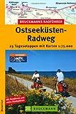 Bruckmanns Radführer Ostseeküsten-Radweg: 25 Tagesetappen mit Karten 1:75.000