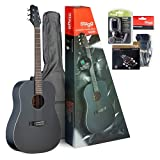 Stagg SA30D-BK PACK Pack Guitare acoustique Dreadnought Noir