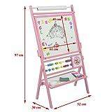 Standkindertafel mit Abakus und Zubehör, 87x56cm Magnettafel Kindertafel Abakus Standtafel Schultafel Maltafel von 4U-Onlinehandel