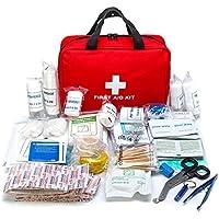 Kit de Primeros Auxilios Kit de Rescate 300Pcs Kit portátil de Supervivencia de Emergencia Adecuado para niños Trabajo Familia Mascotas Camping Senderismo y Supervivencia