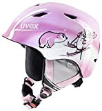 UVEX Kinder Skihelm Airwing 2, Pink Snowman, 48-52 cm, S5661321301
