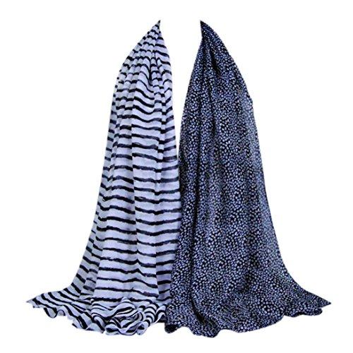 Transer ® Femelle Écharpes, Mode féminine Unique Design Madame mode Long Écharpes Doux et chaud Wrap Shawl Scarf Neck Stole Noir