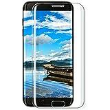 Galaxy S7 edge Panzerglas Schutzfolie, Parsion [1 Stück] Displayschutzfolie für Samsung Galaxy S7 edge Panzerfolie Displayschutz Gehärtetem Glass 9H Härtegrad, Anti-Kratzen, Einfaches Anbringen (transparent)