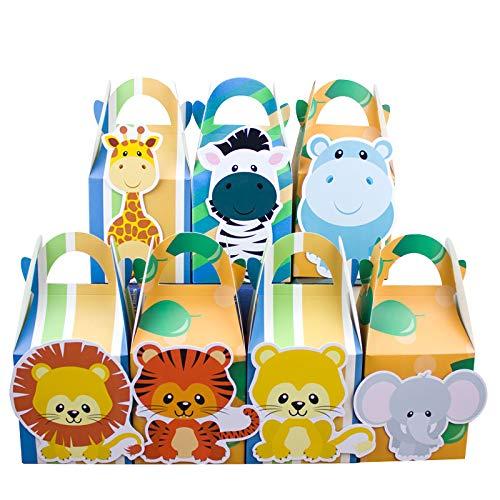 Safari Tiere Favor Box Candy Box Geschenk Box Geschenk Taschen Cupcake Box Verpackung Junge Kinder Geburtstag Dekoration Ereignis Partei Liefert