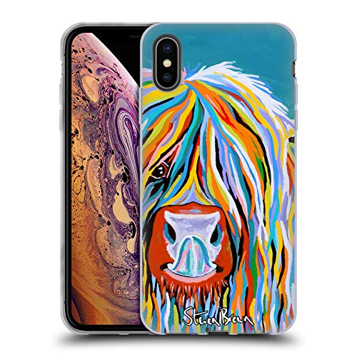 Price comparison product image Official Steven Brown Katie Mccoo Highland Cow Collection 2 Soft Gel Case for iPhone XS Max