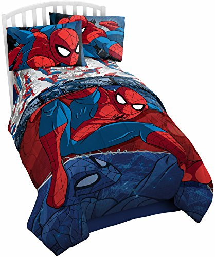Marvel Spiderman Mikrofaser Kopfteil, Spiderman Blue, Twin