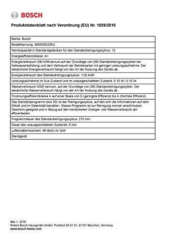 Bosch SMS50D32EU Freistehender Geschirrspüler - 3