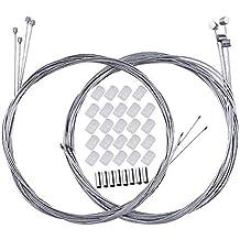 BUZIFU Cable de Freno Bicicleta de Montaña 4 Unidades Cable de Alambre de La Bicicleta 2m