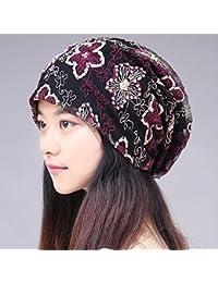 RangYR Sombrero De Mujer Sra. Cap Primavera Y Verano Gorra Transpirable Cap  Turbante Gorro Pañuelo 5ff3b97a6189
