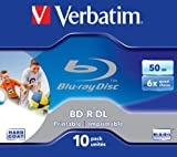 Verbatim 43736 BD-R DL 50 GB 6 x Druckversion - 10er Pack Jewel Case