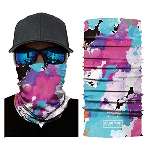 Wokee Bedrucktes Face Shields Multifunktionstuch Bandana Gesichtsmaske Sturmhaube,Maske fürs Motorrad,Fahrrad,Ski Snowboard Snowboard Halloween (G)