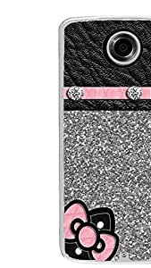 PrintVisa Designer Back Case Cover for Motorola Nexus 6 :: Motorola Nexus X :: Motorola Moto X Pro :: Google Nexus 6 (Leather pattern with Bow and Buttons)