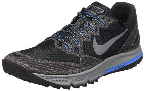 Nike Gore Tex (Nike Herren AIR Zoom Wildhorse 3 GTX Laufschuhe, Schwarz/Dunkel Grau-Fotoblau-Wolfgrau, 42.5 EU)