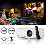 Projector HD Home Theater, WXGA Movie Projector with 2 HDMI 2 USB VGA