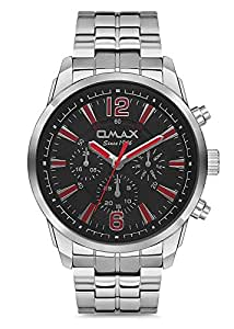 OMAX Chronograph Display Men's Watch Casual Quartz Multifunction Dial  Stainless Steel Chain Watch