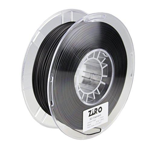 ZIRO 3D-Drucker Filament Karbonfaser PLA 1,75mm 0,8kg Spule–Schwarz
