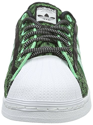 adidas Superstar GID, Baskets Basses Homme Grün (Core Black/Shock Mint/Ftwr White)